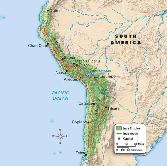 Map of the Inca Empire - Museum of Peru: The Incas